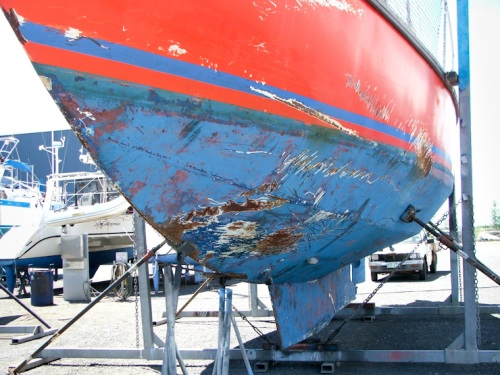 Maranatha's hull damage